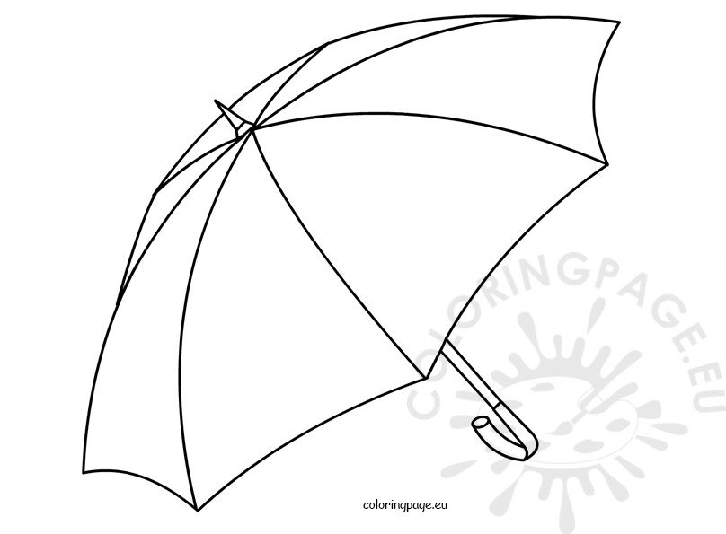 Umbrella open Kids coloring pages