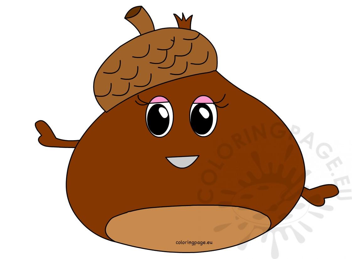 Chestnut Cartoon Image Coloring