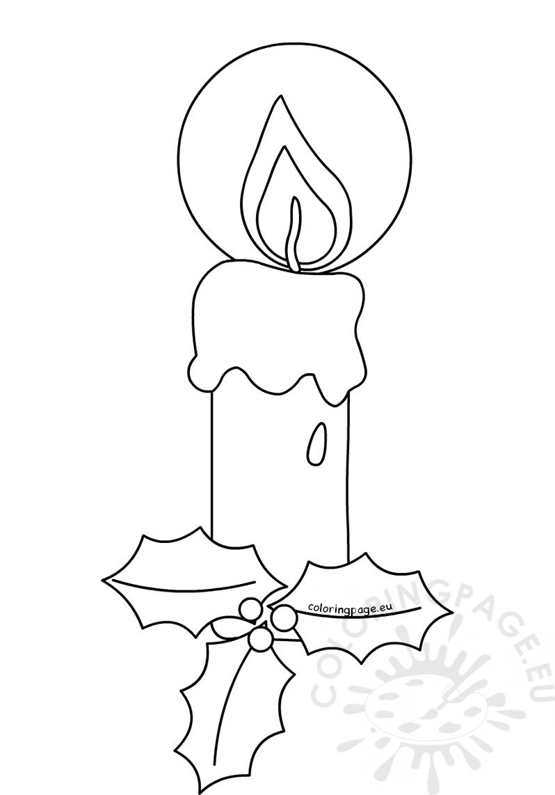 candle coloring pages for christmas