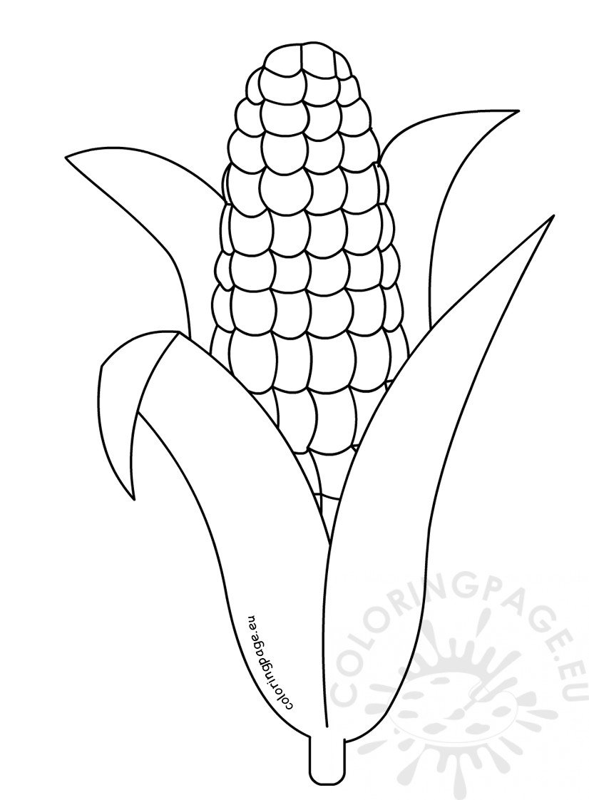 Corn Coloring Pages Corn Coloring Pages Printable  Coloring Page