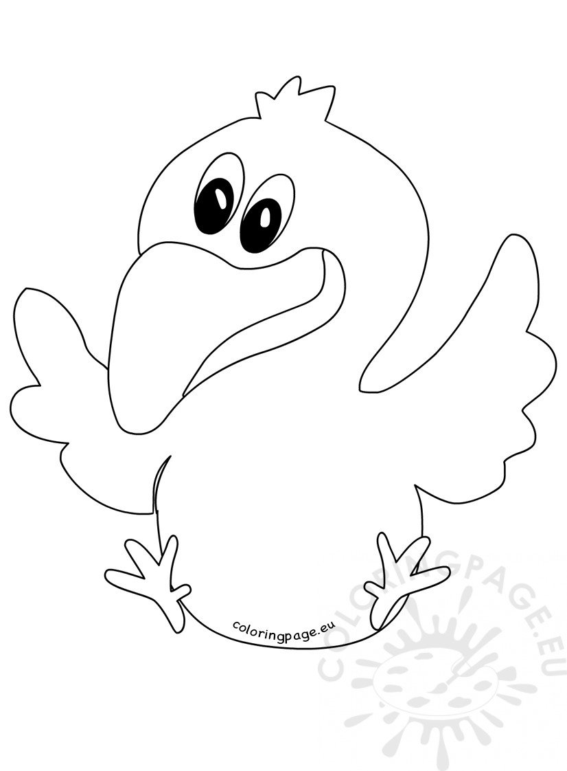 Illustration flying crow coloring page for Flying crow coloring page