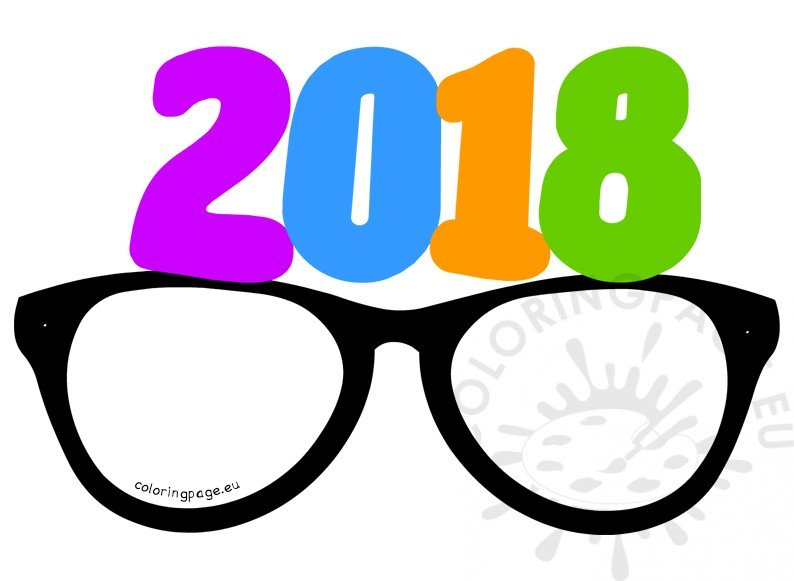Party glasses New Year 2018