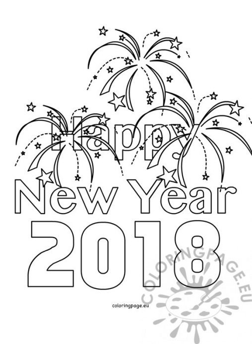 new years eve coloring pages - photo#15