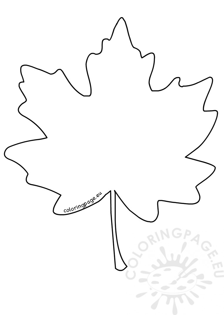 - Maple Leaf Drawing – Coloring Page