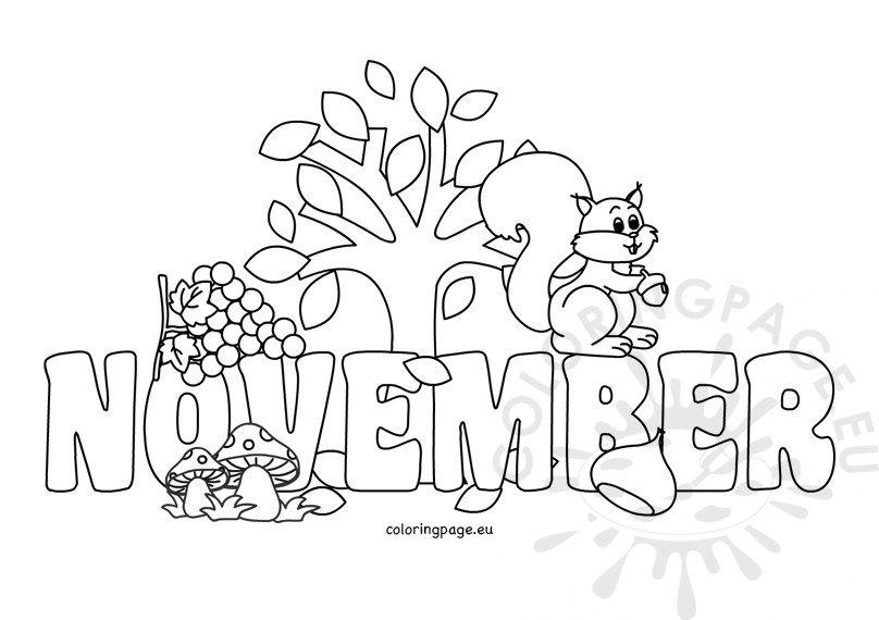 November Coloring Sheet Printable Coloring Page