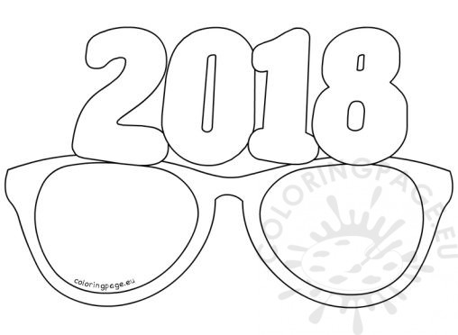 New Year Coloring Page Coloring Pages 2018