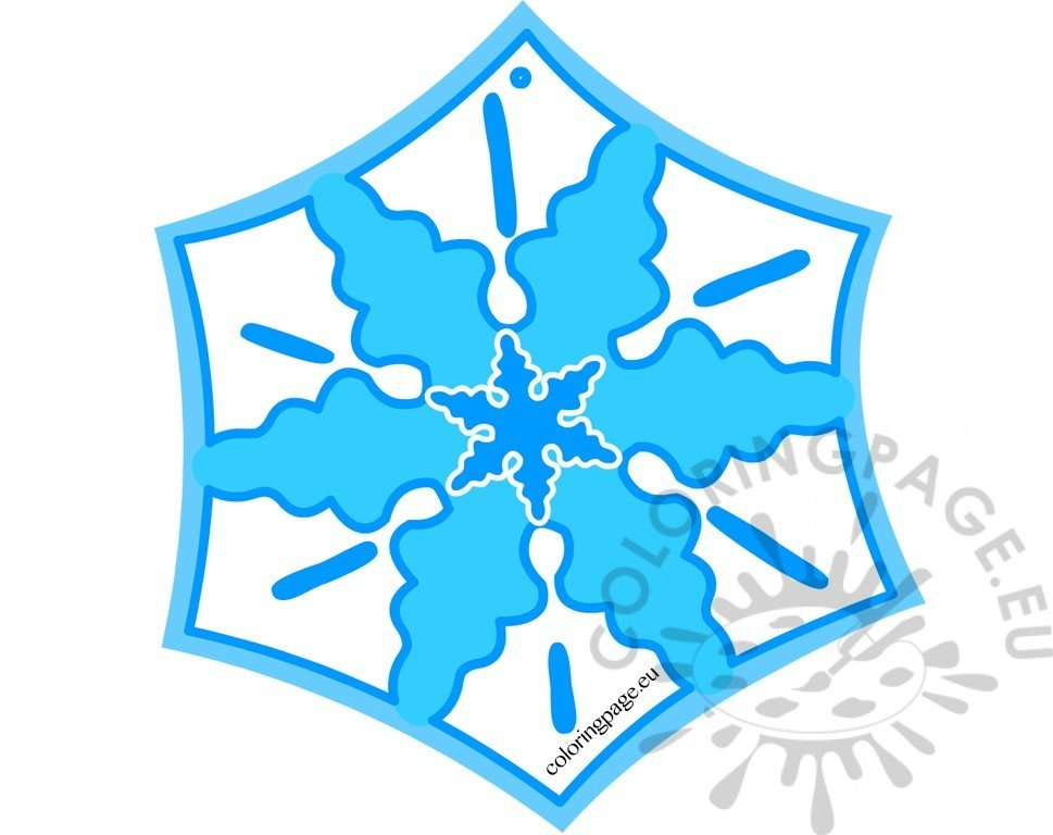 Snowflake decoration Christmas craft for kids