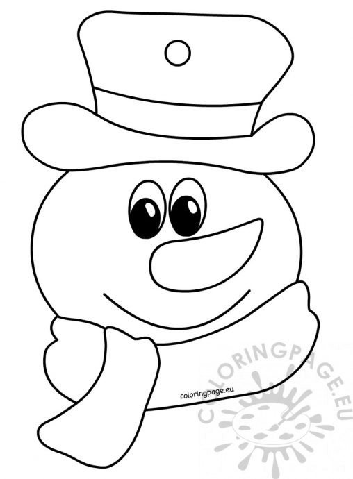 childrens coloring pages snowman free - photo#18