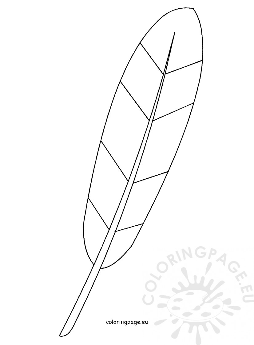 Turkey Feather template - Coloring Page