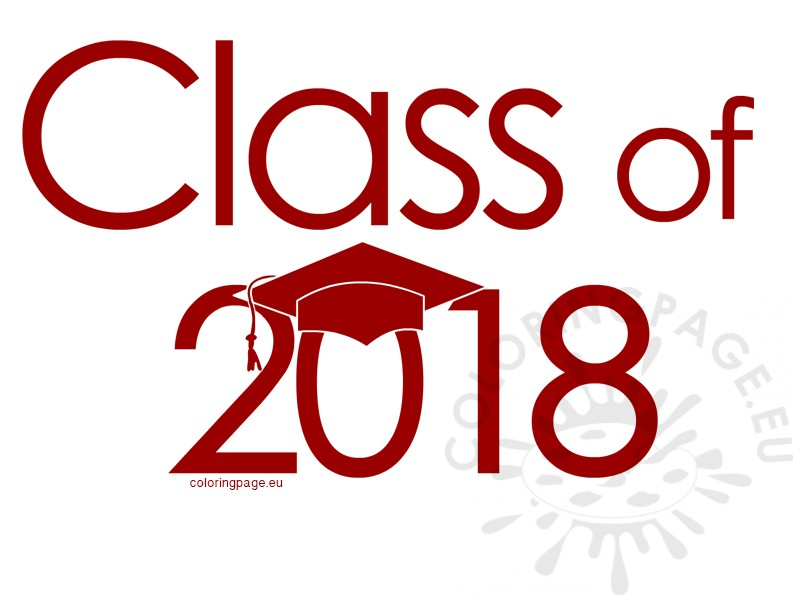 Class of 2018 red clipart