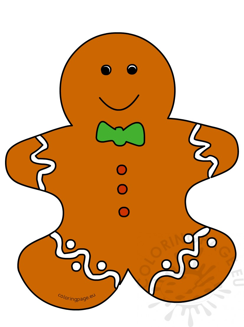 Cartoon gingerbread man print