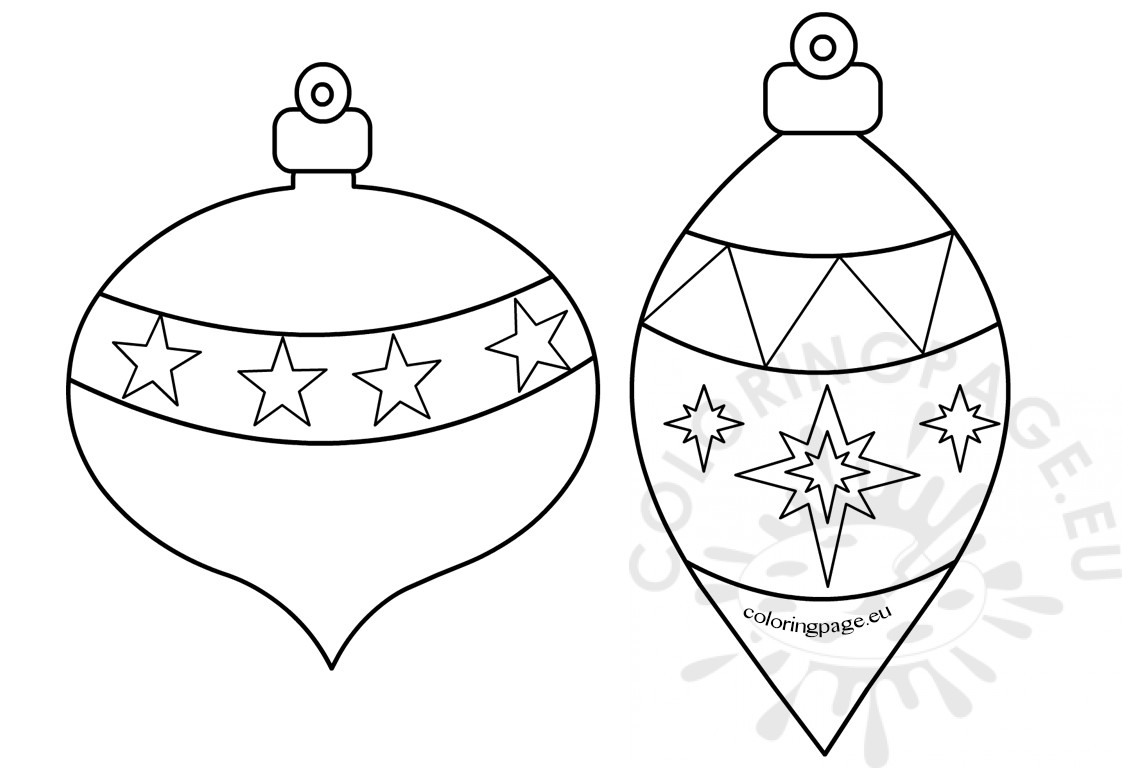 Printable Christmas Ornaments to Color – Coloring Page