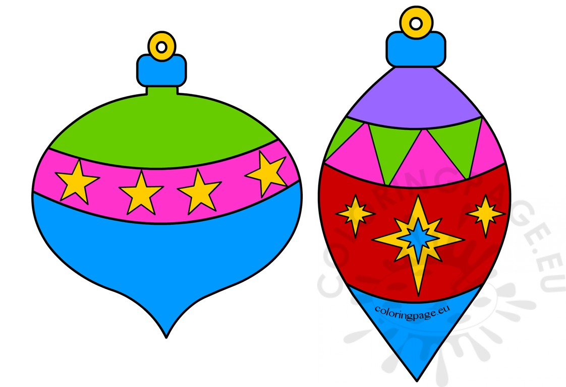 Printable Christmas Ornaments – Coloring Page