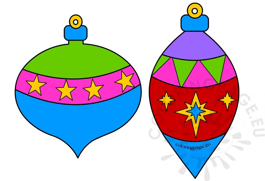 Printable Christmas Ornaments - Coloring Page
