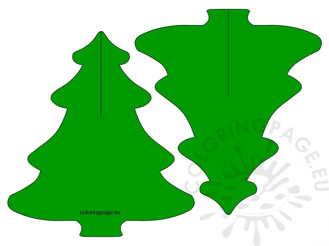 3D Pine Tree Paper Craft for kids | Coloring Page
