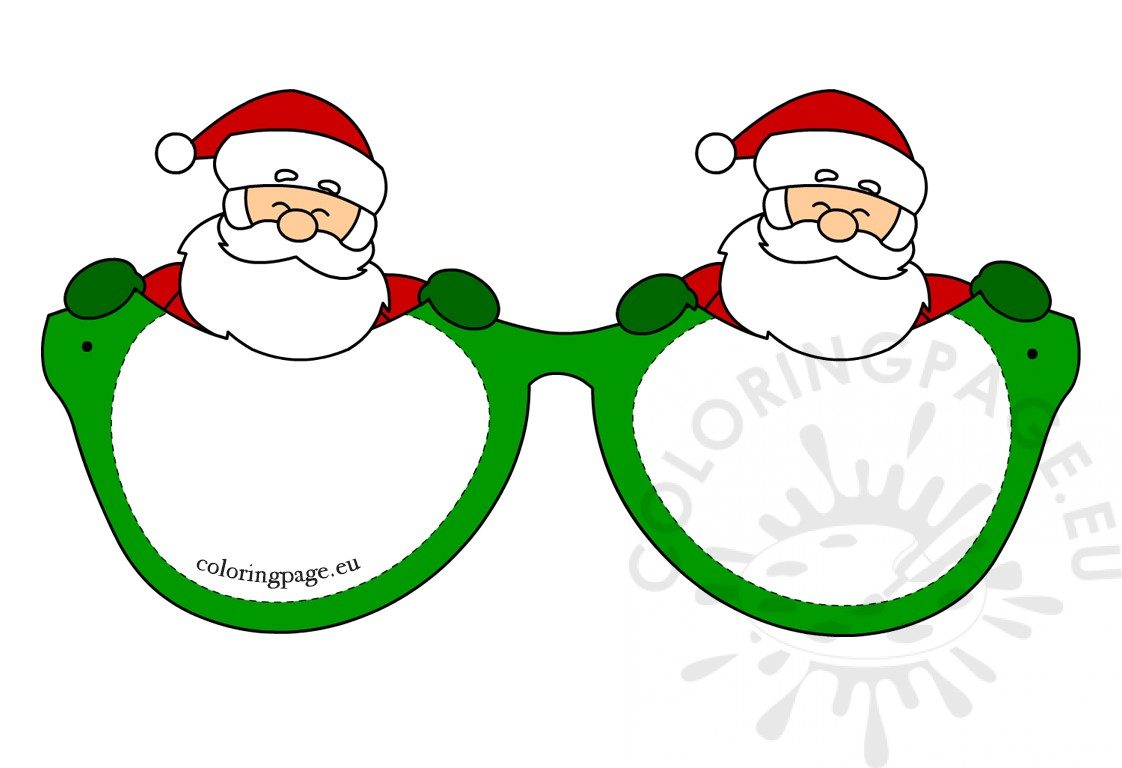 Christmas Paper Glasses Santa Clause