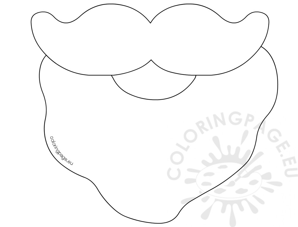 Coloring Picture Of Santa Beard Coloring Page