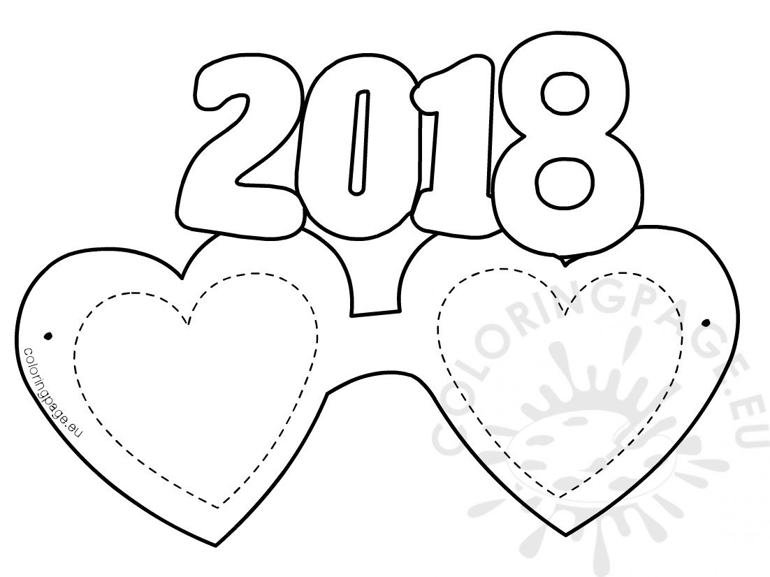 Heart-Shaped Paper Eyeglasses 2018