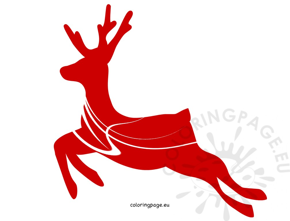 Red reindeer Vector Image