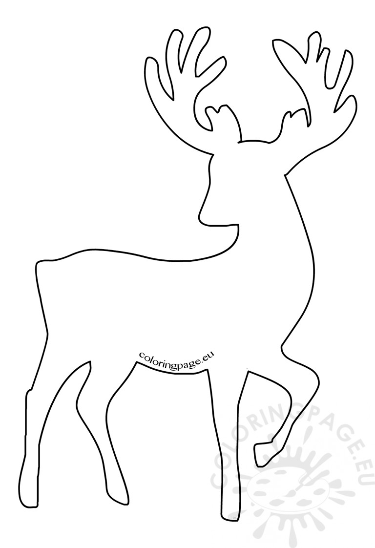 Reindeer Christmas Decorations Craft Shapes