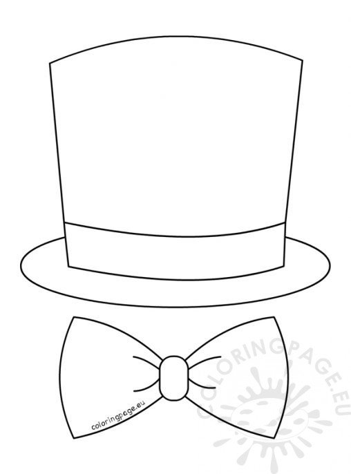 tophat coloring pages - photo#21