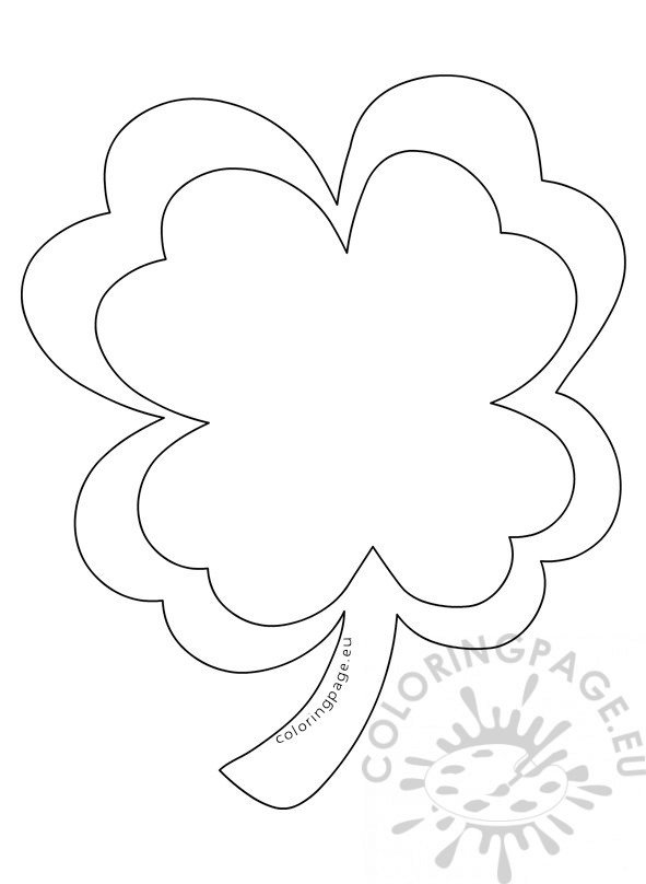 Large Four Leaf Clover Template