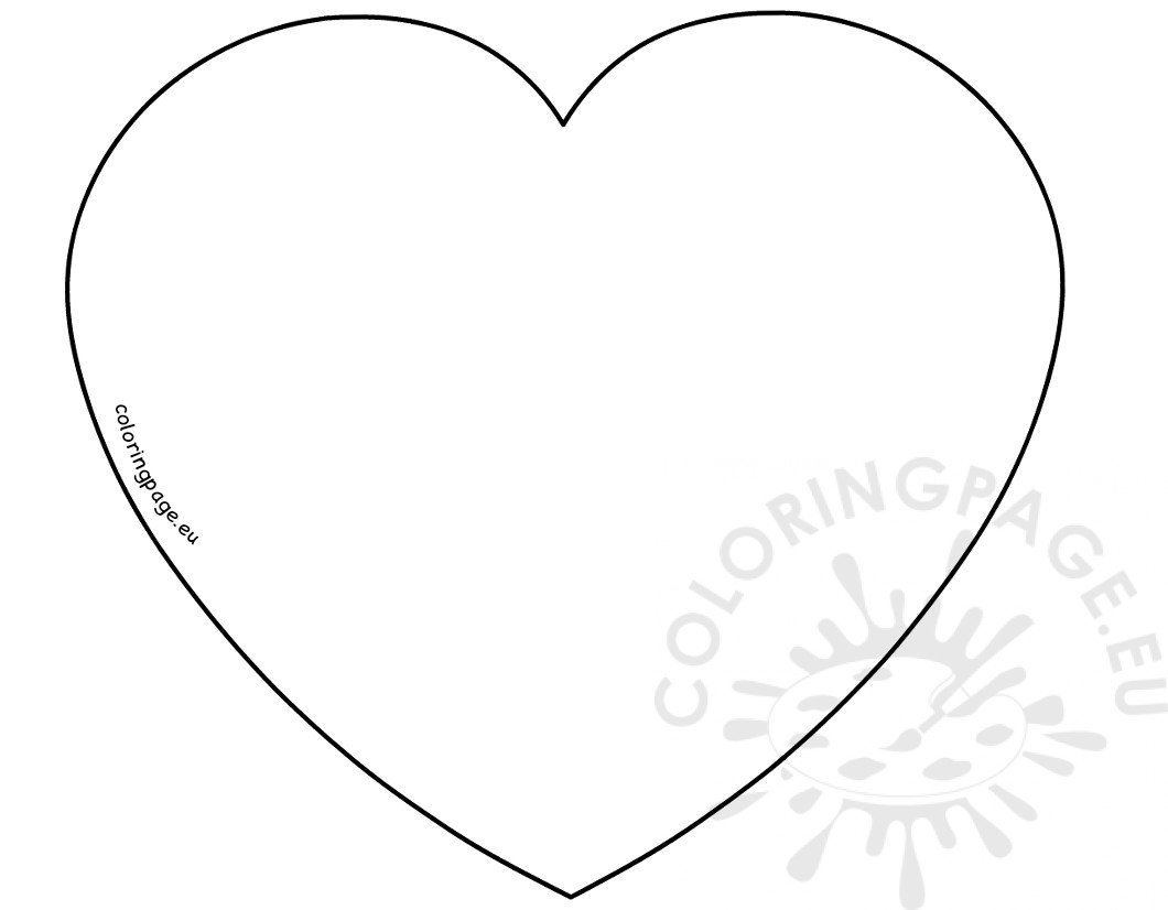 Valentines day coloring page printable valentines day heart template pronofoot35fo Images