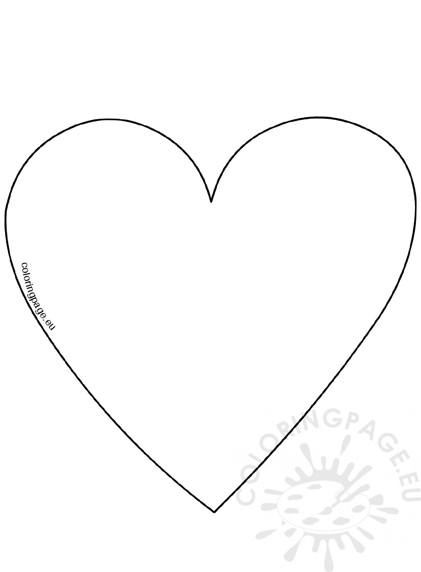 Big heart template image - Coloring Page