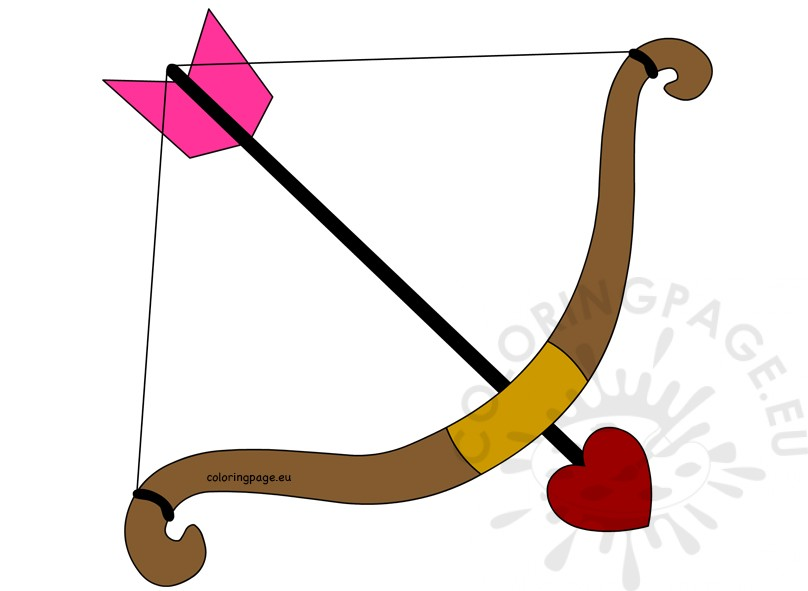 Bow and arrow cupid Valentine's day