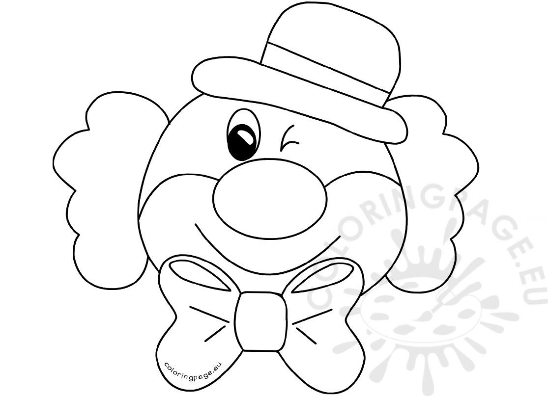 Clown for Birthday party printable