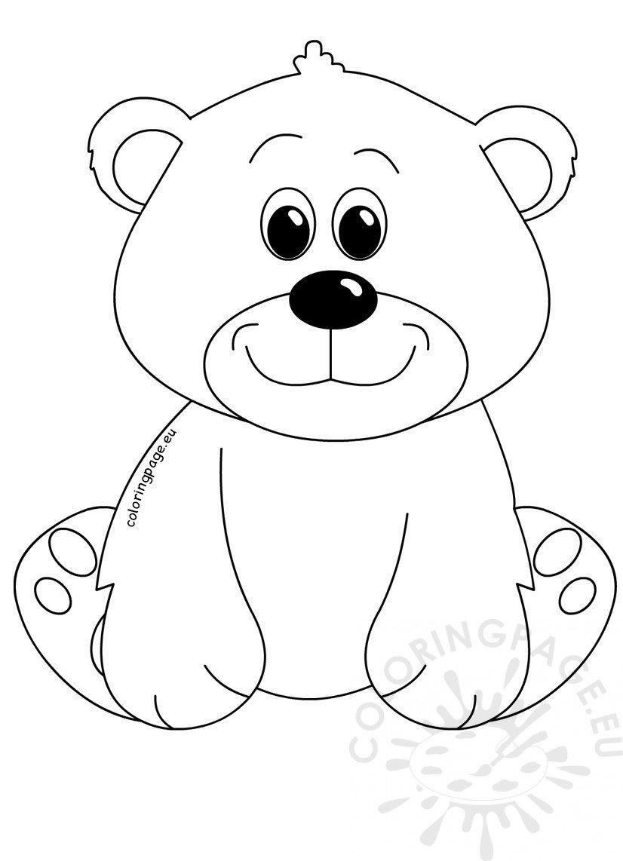 Cute Bear cartoon clipart - Coloring Page