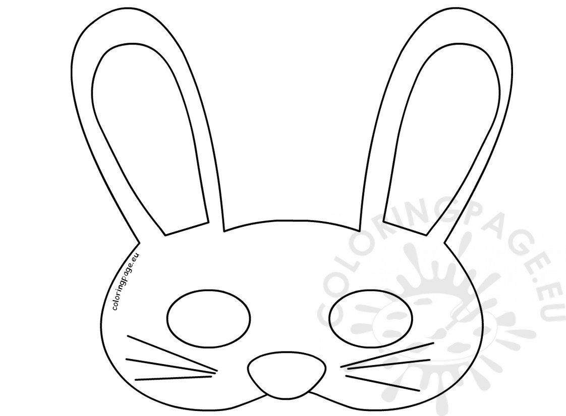 Easter Bunny Face Mask Template Craft For Kids Easter Bunny Mask