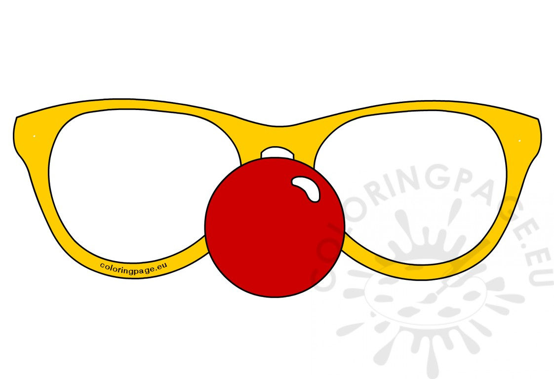 Glasses with Clown red nose