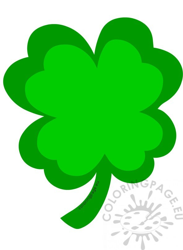 St Patrick's Day ClipArt Four Leaf Clover