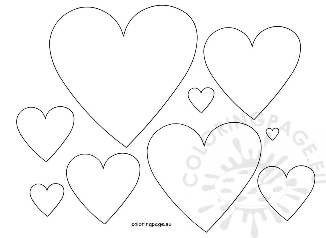 Hearts Shape Template