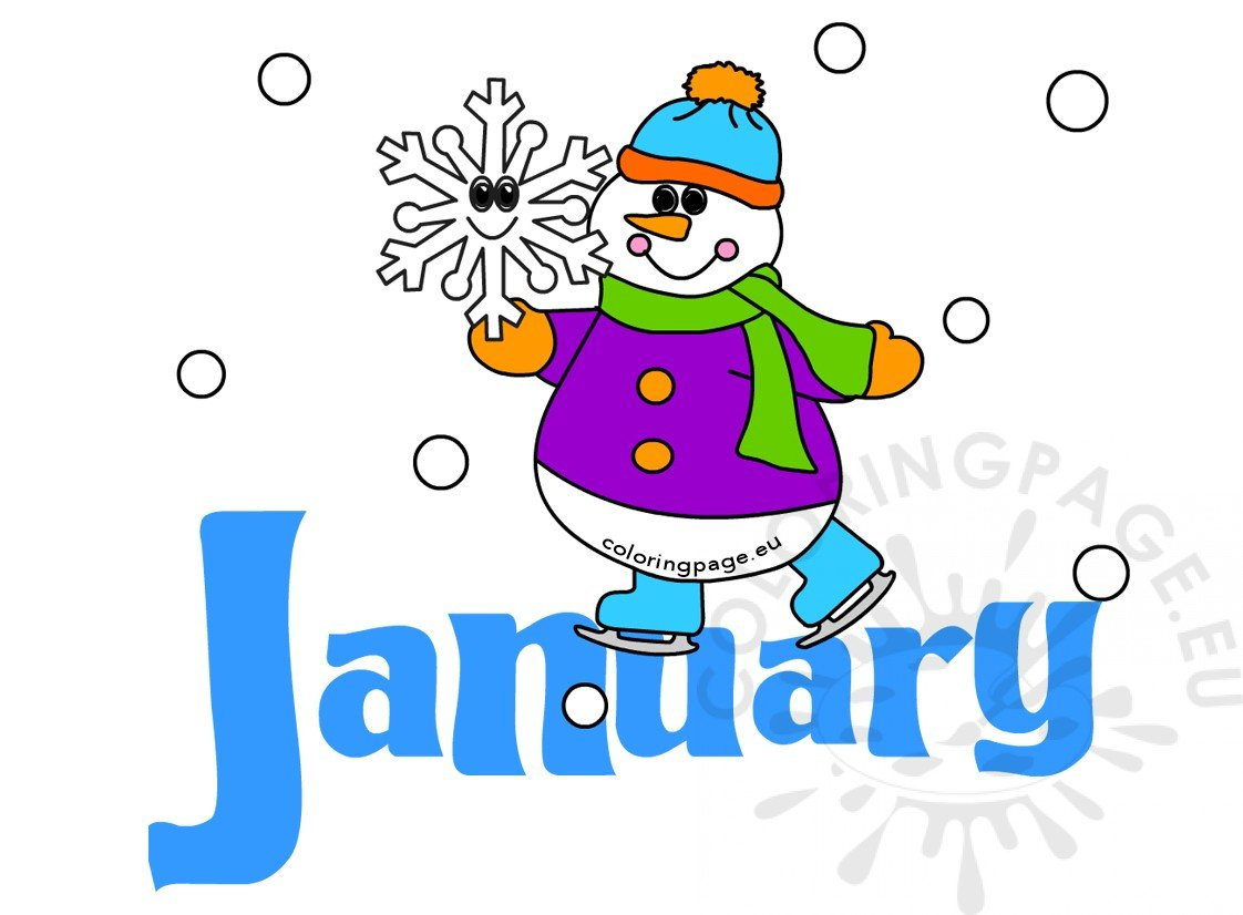 Month of January Snowman image