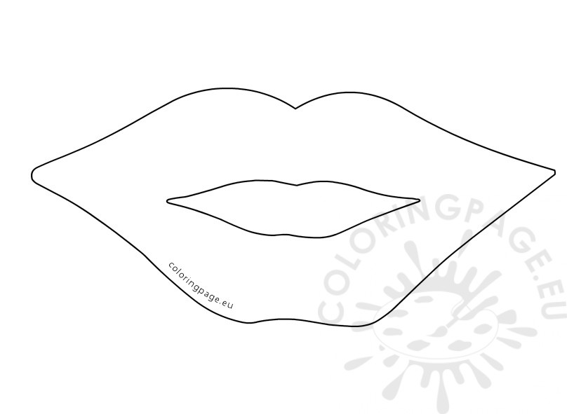 fish mouth template - lips template printable coloring page