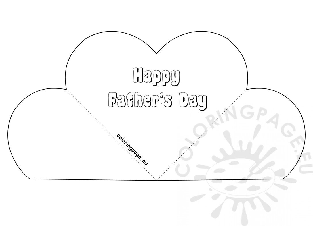Simple Popup Heart Card Father's Day