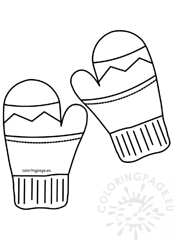 preschool art pattern and coloring pages | Winter pictures Preschool Mitten Patterns – Coloring Page