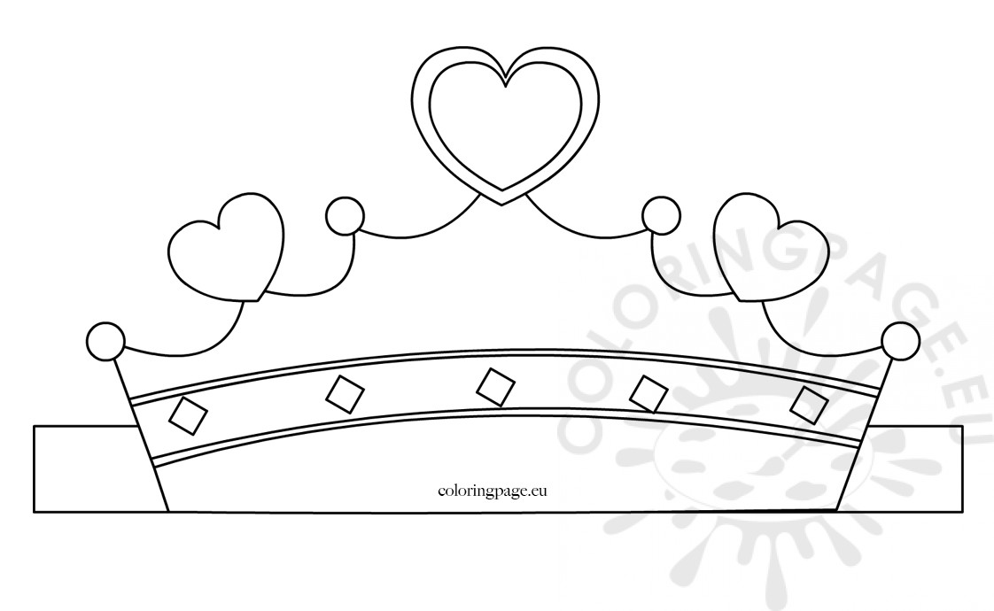 image regarding Princess Crown Printable titled Paper princess crown template Coloring Web page