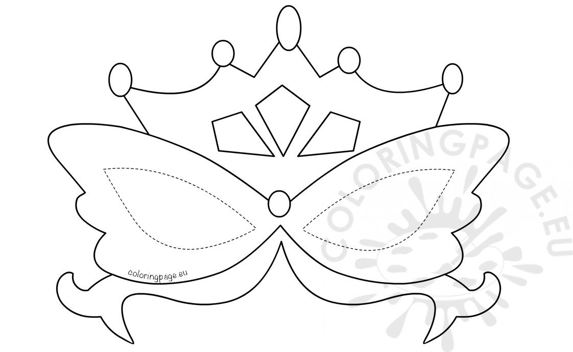 Printable Mardi Gras Mask template