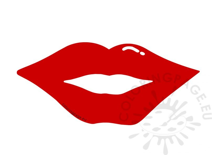 Red Lip Props Valentine Day Photo Booth Props