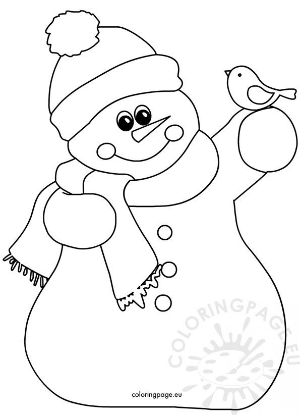 Snowman And Little Bird image