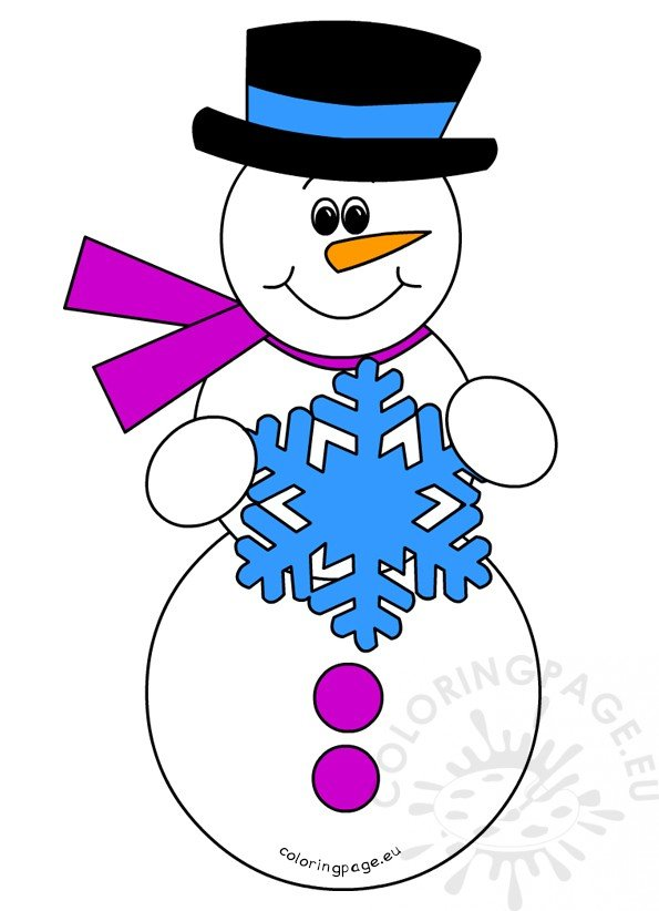 Snowman with Scarf image