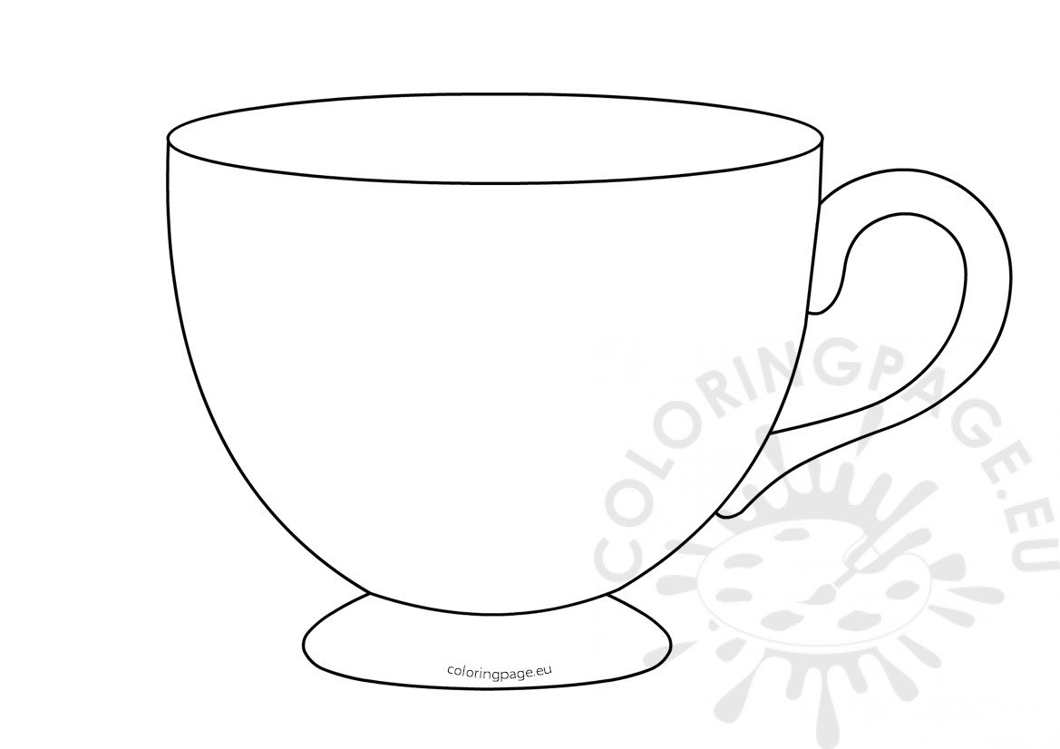 photograph about Teacup Template Printable known as Tea Cup Template Printable Coloring Website page