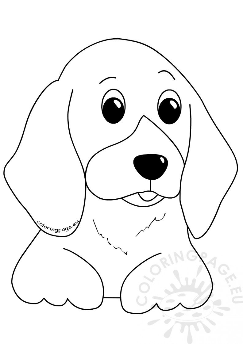 Dog Coloring Page Animals