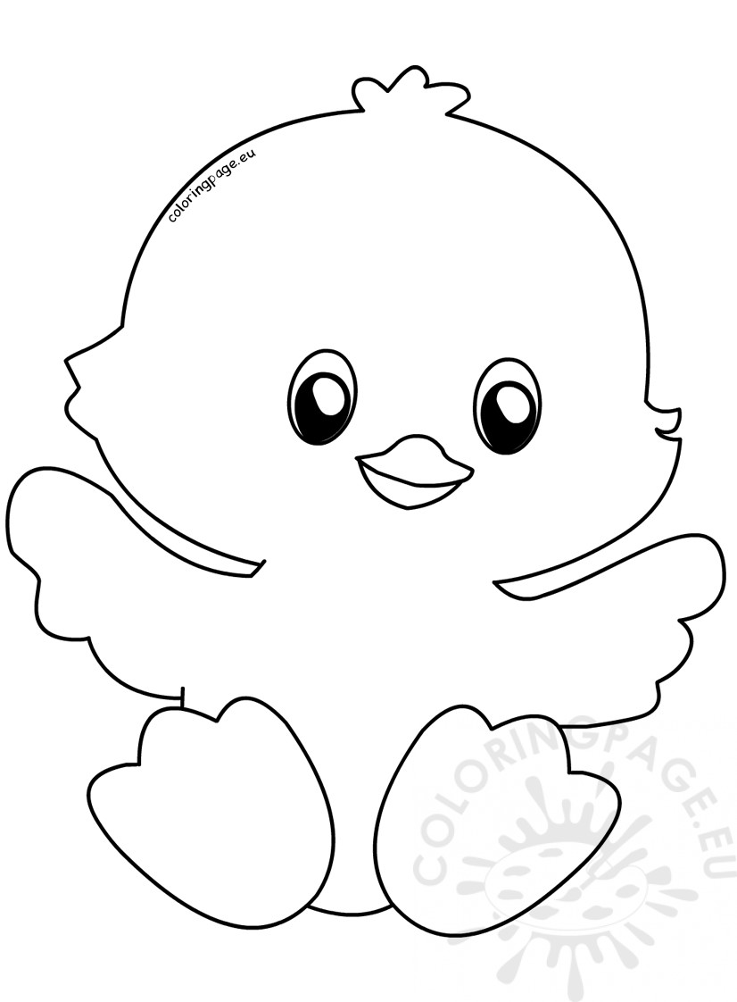 happy easter chick coloring pages - photo#8