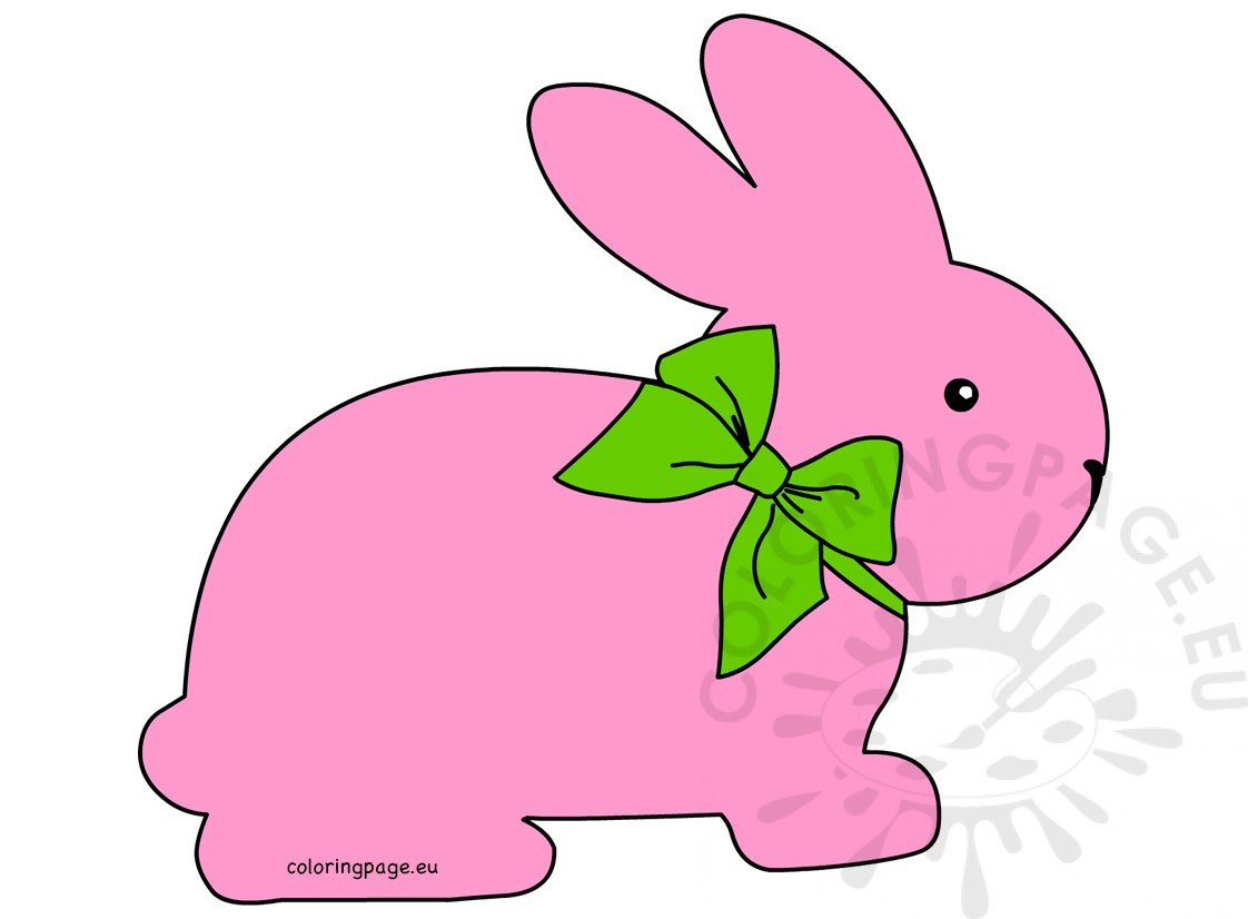 Easter rabbit with green bow