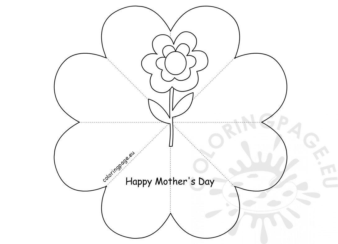 DIY Heart Flower Card template