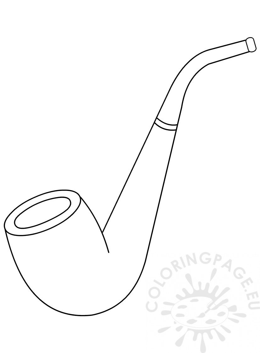 Smoking Pipe Template Coloring Page